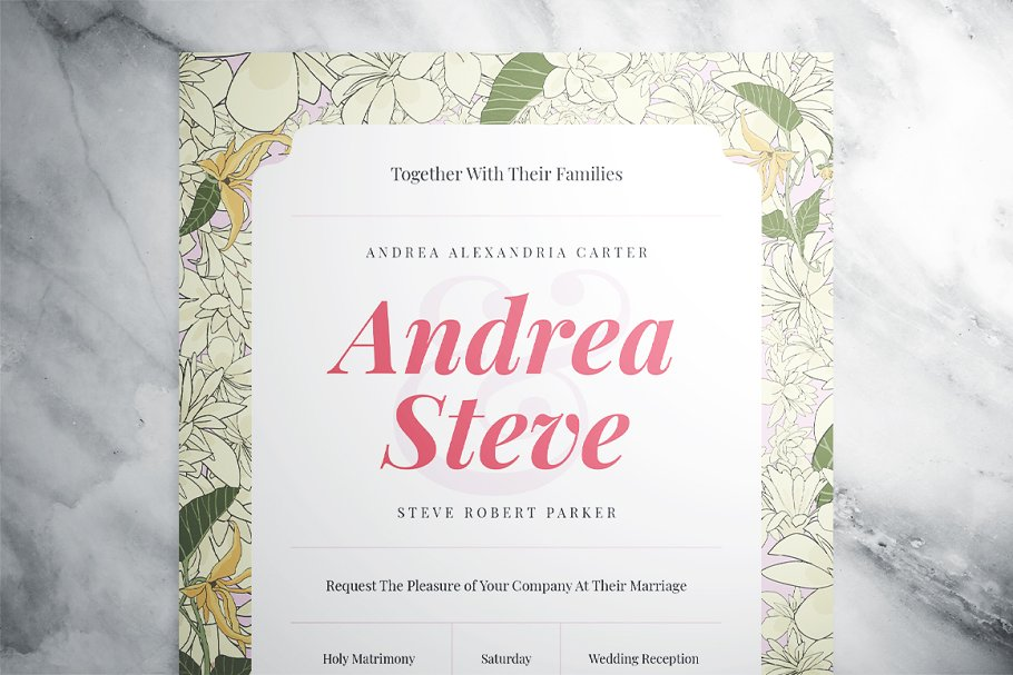 Flower Wedding Suite in Wedding Templates - product preview 1