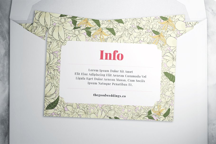 Flower Wedding Suite in Wedding Templates - product preview 4