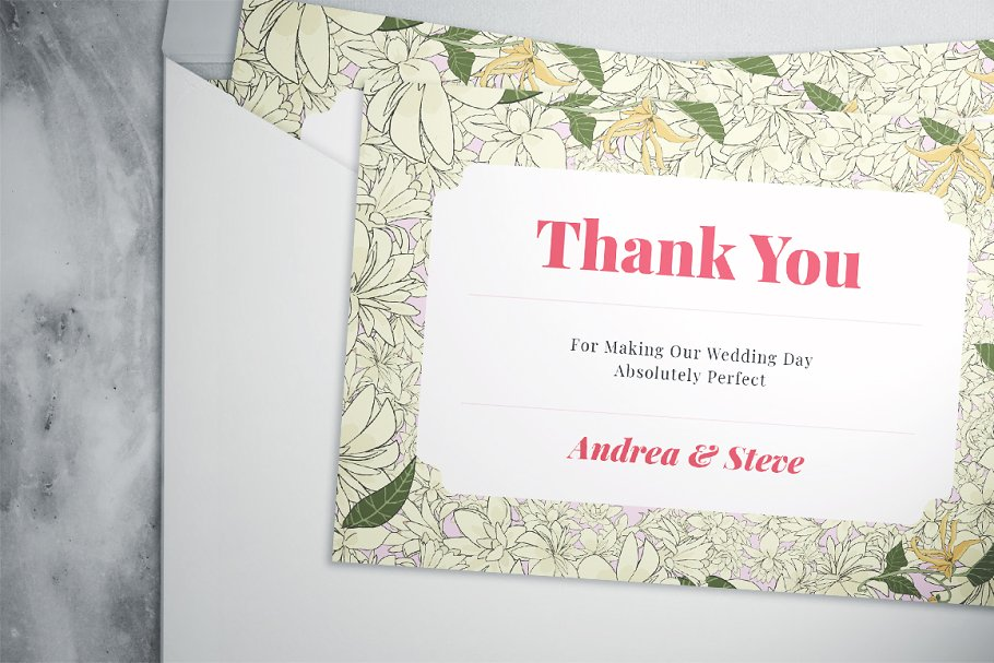 Flower Wedding Suite in Wedding Templates - product preview 5