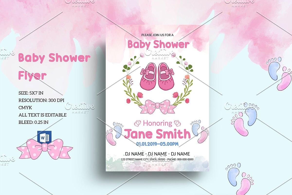 Baby Shower Invitation Flyer V1032