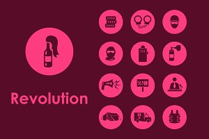 revolution simple icons