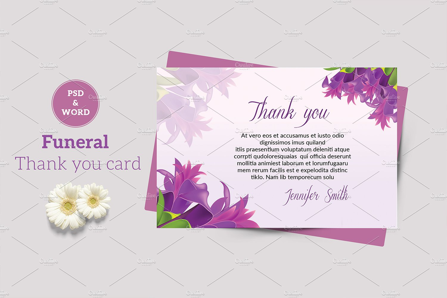 Funeral Thank You Card V21 Pertaining To Sympathy Thank You Card Template