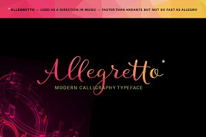Allegretto Script (intro 20%off)