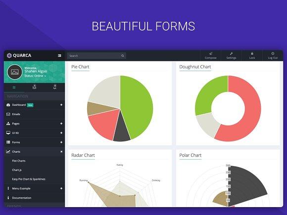 Quarca Bootstrap Dashboard Template