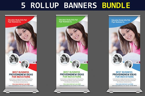 5 Corporate Business Rollup Banners