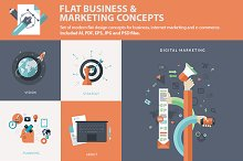 Flat Business & Marketing Concepts