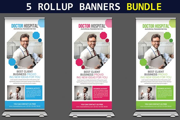5 Business Rollup Banners Bundle