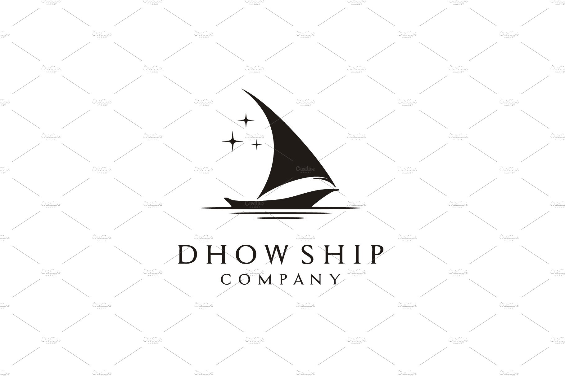 Traditional Ship Boat (Dhow) logo