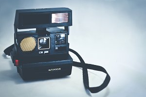 Vintage Camera - Polaroid Style