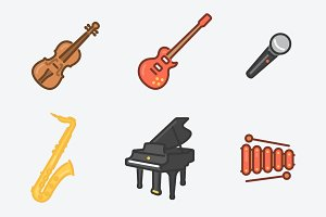 9 Musical Instruments Icons