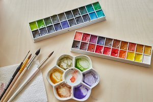Watercolour paint supplies