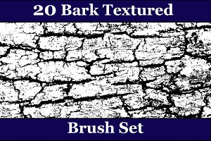 20 Bark Texture Brush Set