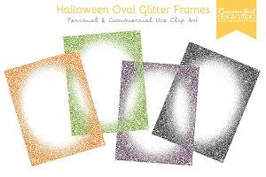 Halloween Oval Glittery Frames
