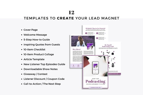 Lead Magnets for Podcasters in Email Templates - product preview 1