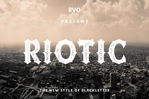 Riotic Typeface + Bonus (intro sale)