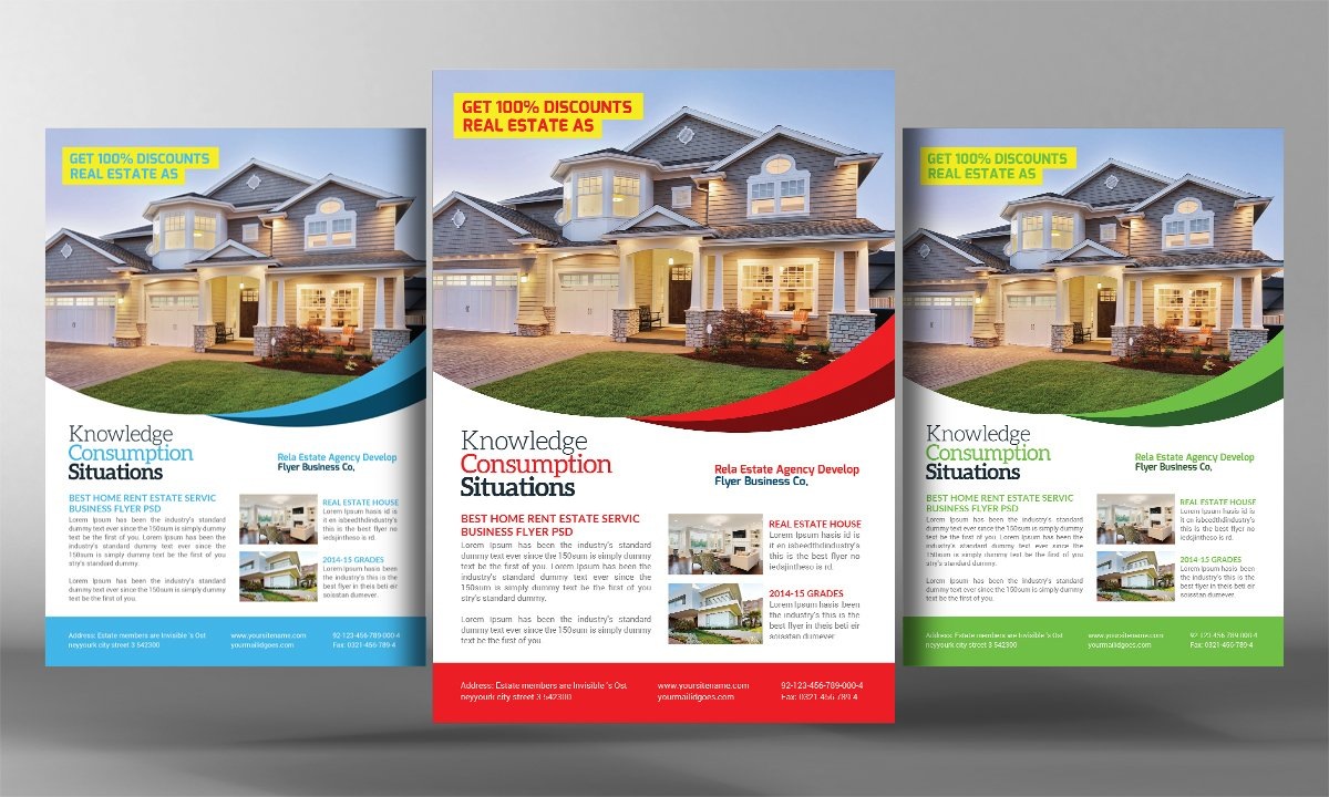 brochure mailer template 2 - real estate agents flyer template flyer templates