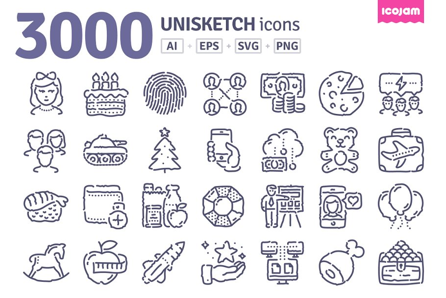 3000 Unisketch icons