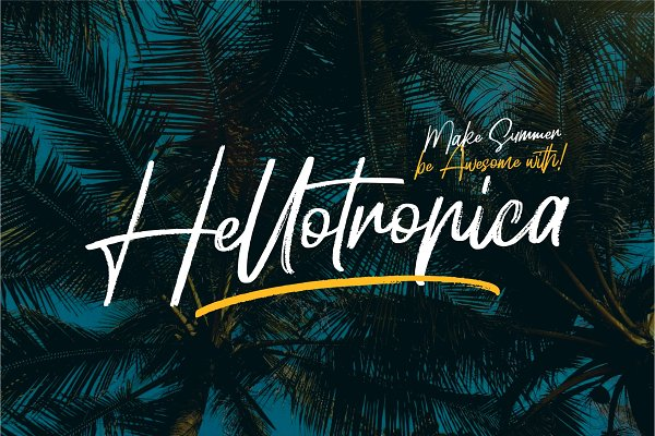 Hellotropica - Handbrush Fonts