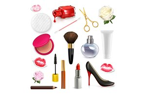 Women cosmetics and accessories
