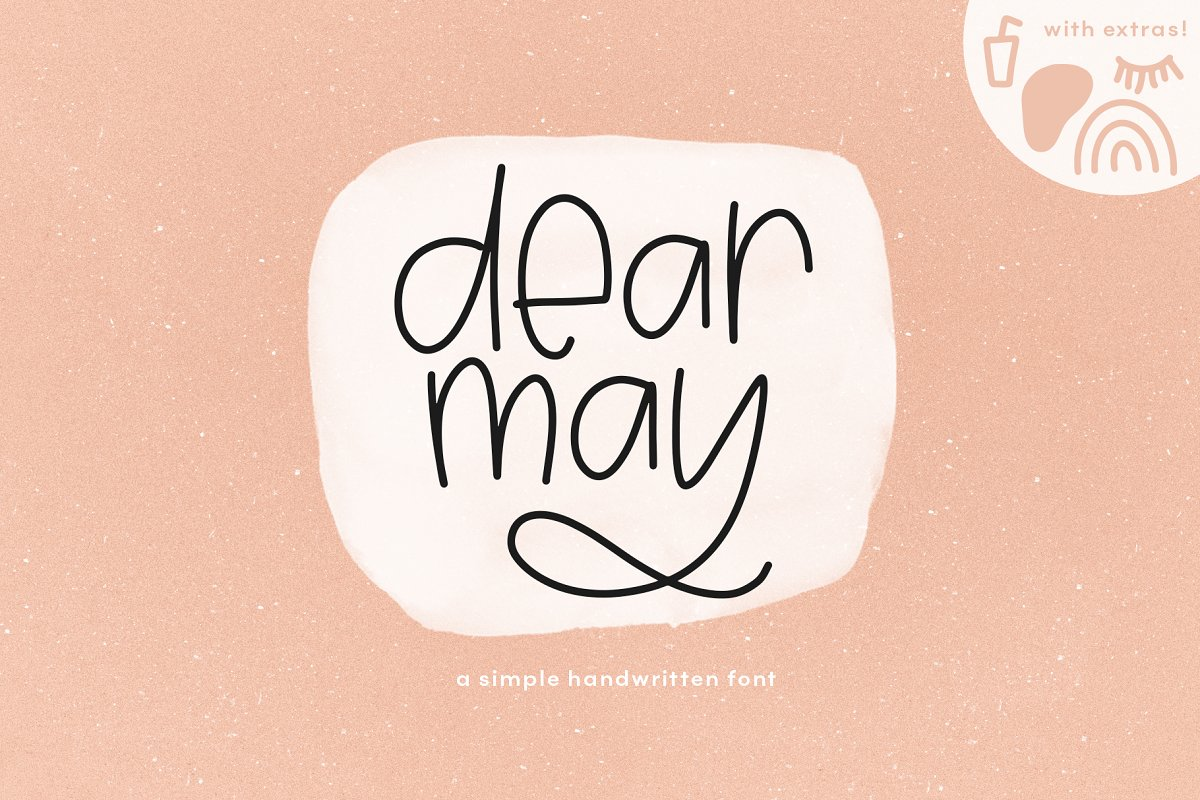Dear May - A Fun Font with Extras!