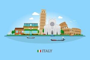 Vector Italy skyline