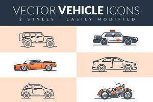 Vector Vehicle Icons