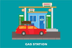 Gas station. Energy.