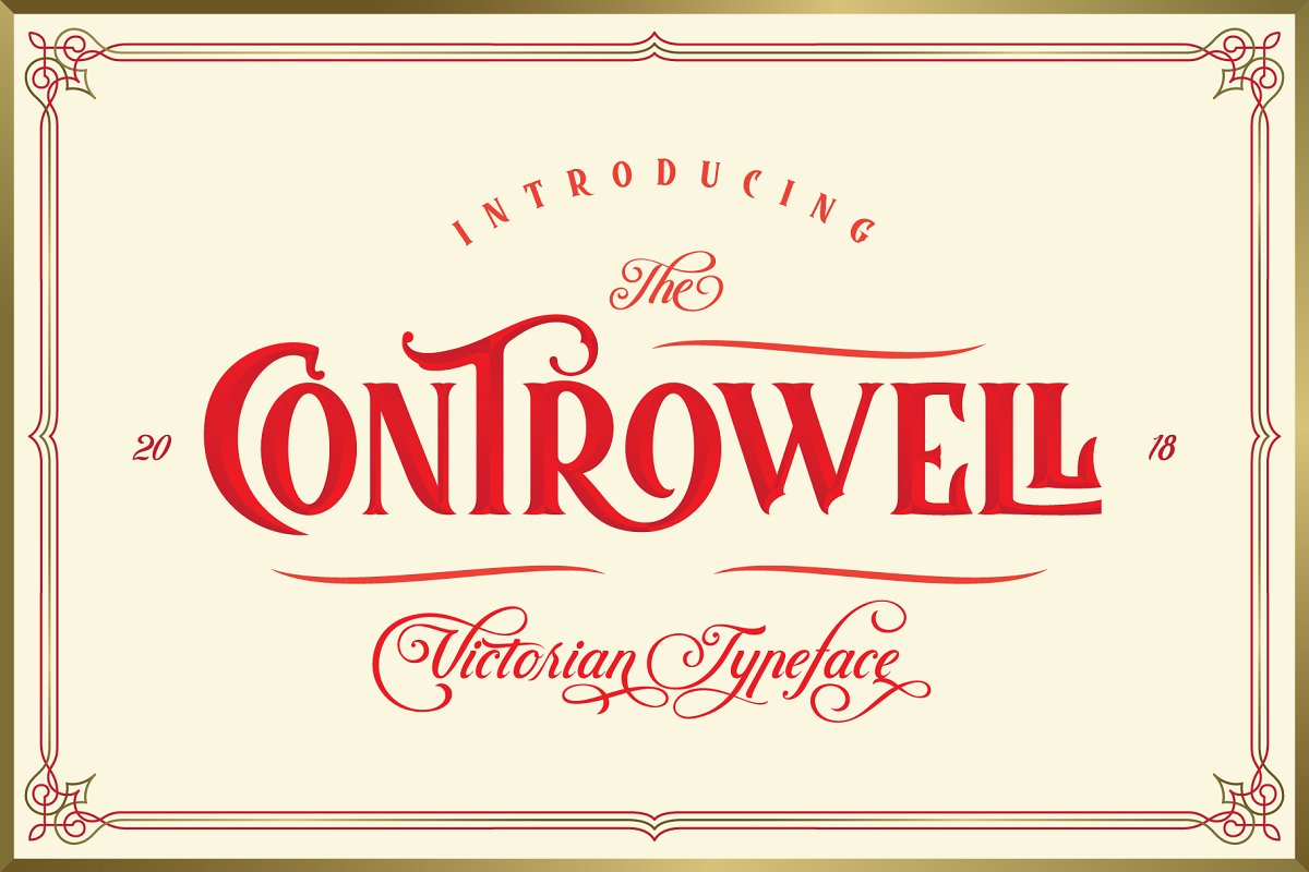 Controwell Victorian Typeface 30%! ~ Display Fonts ~ Creative Market