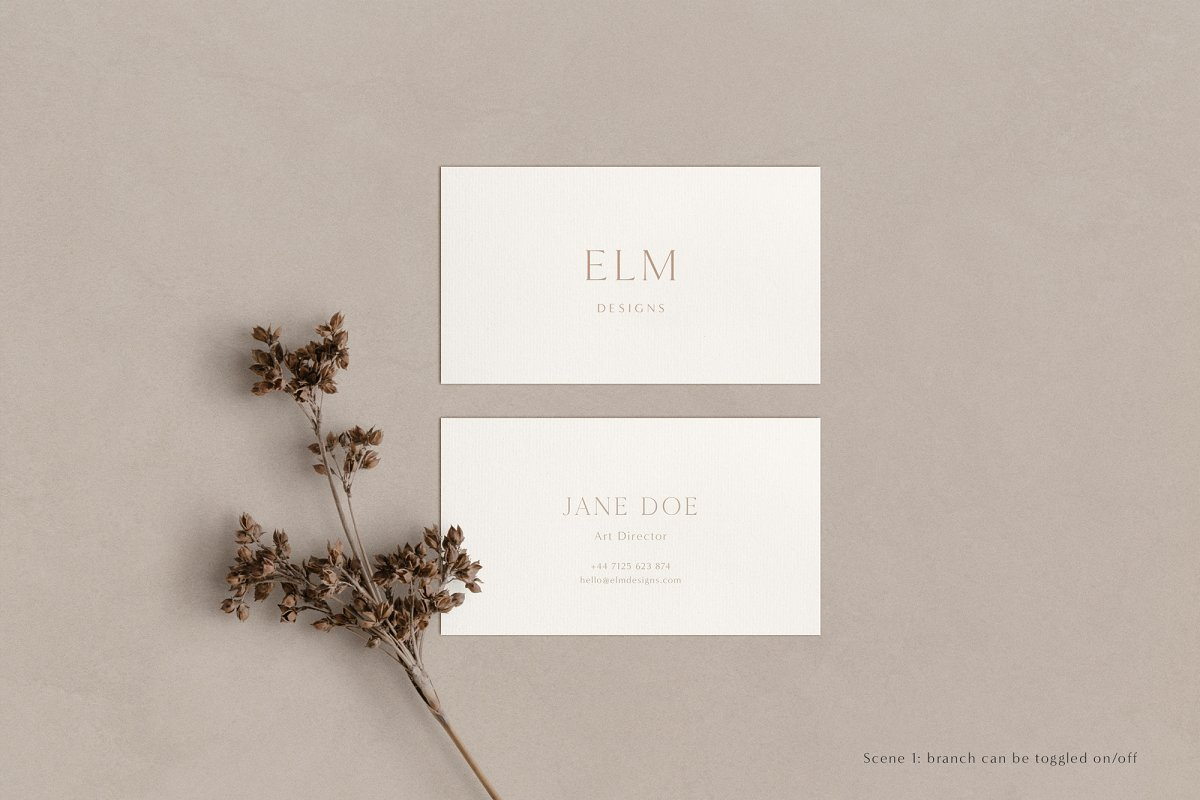 Elm - Business Card Mockup Kit in Templates - product preview 13