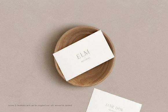 Elm - Business Card Mockup Kit in Branding Mockups - product preview 3