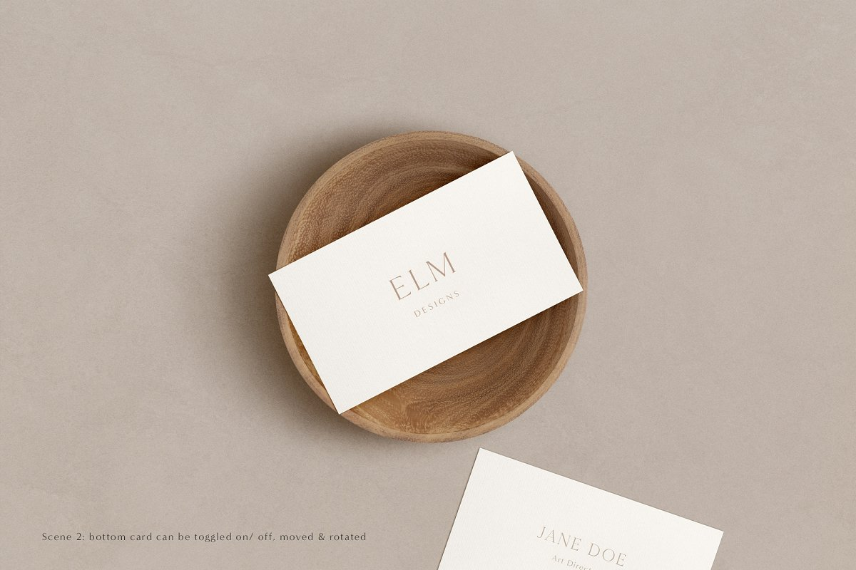 Elm - Business Card Mockup Kit in Templates - product preview 12