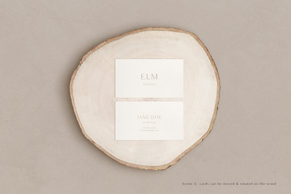 Elm - Business Card Mockup Kit in Branding Mockups - product preview 4