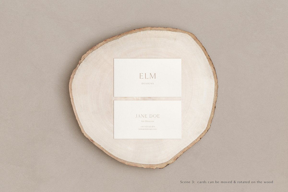 Elm - Business Card Mockup Kit in Templates - product preview 11