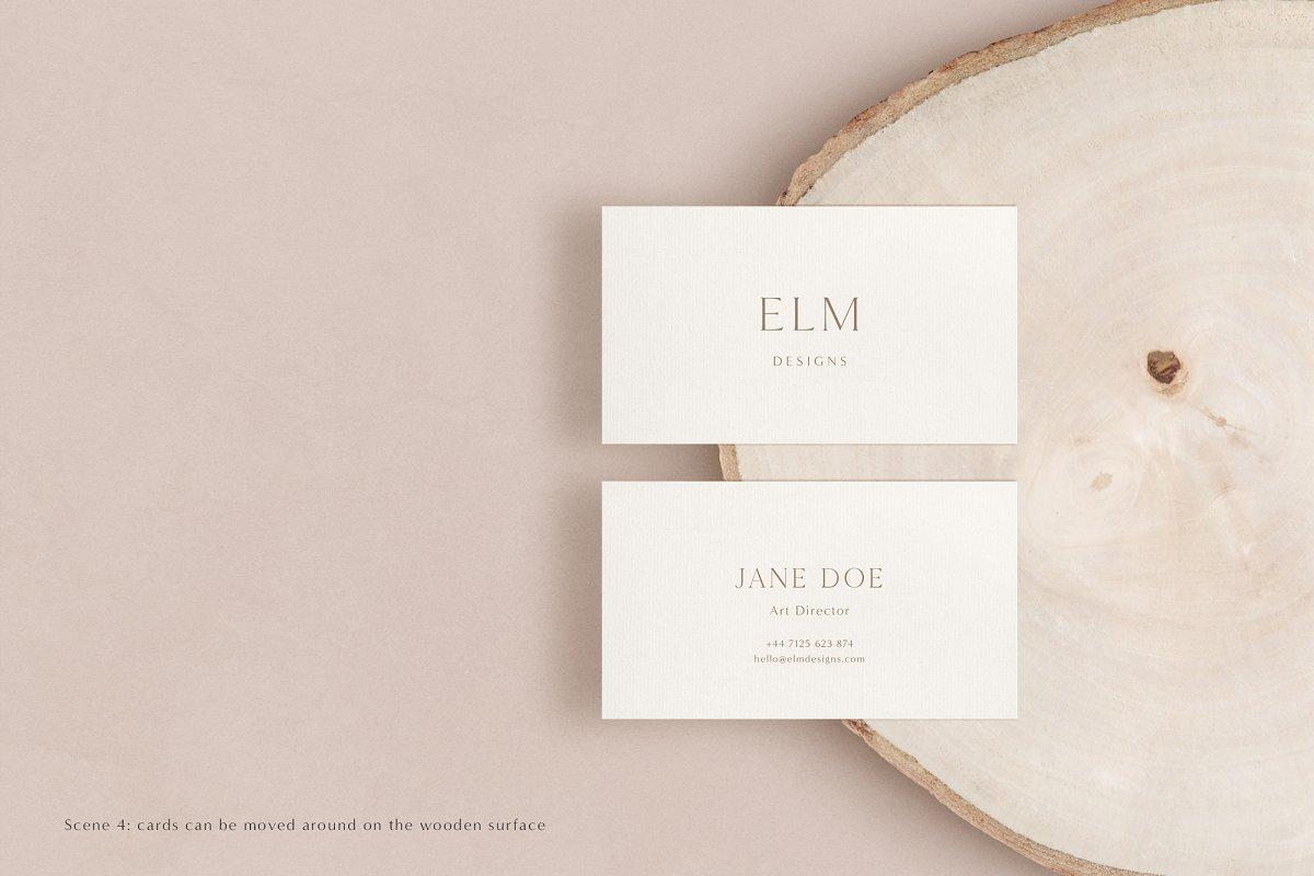 Elm - Business Card Mockup Kit in Branding Mockups - product preview 10
