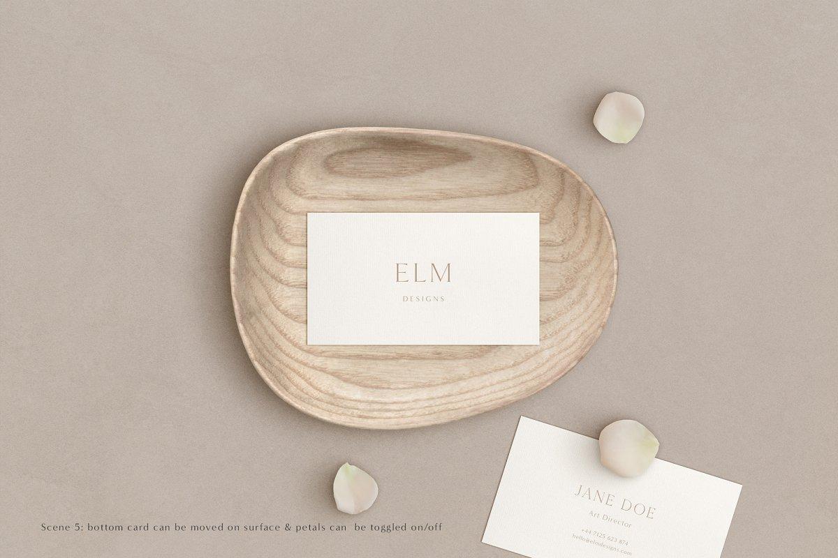 Elm - Business Card Mockup Kit in Branding Mockups - product preview 9