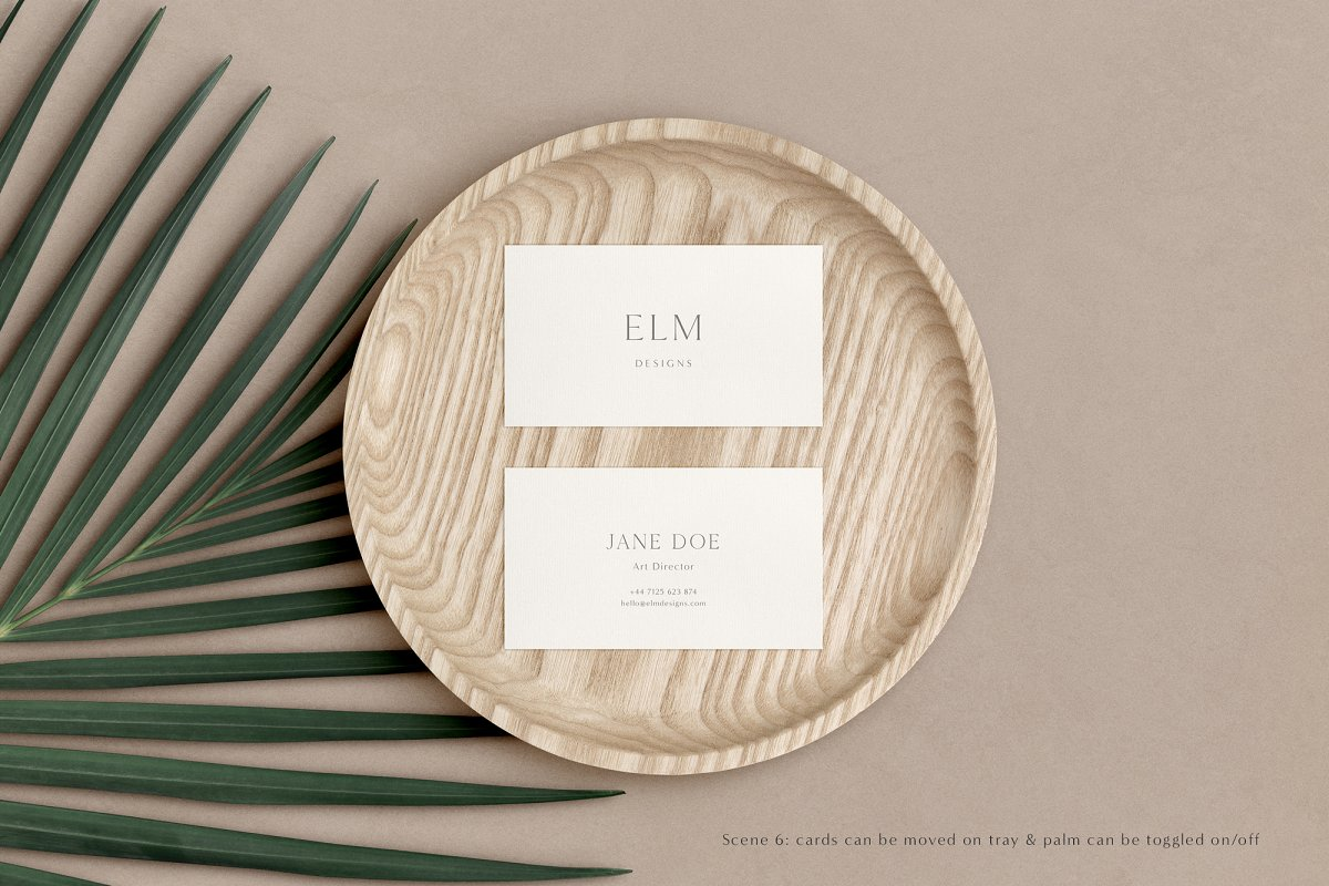 Elm - Business Card Mockup Kit in Templates - product preview 8