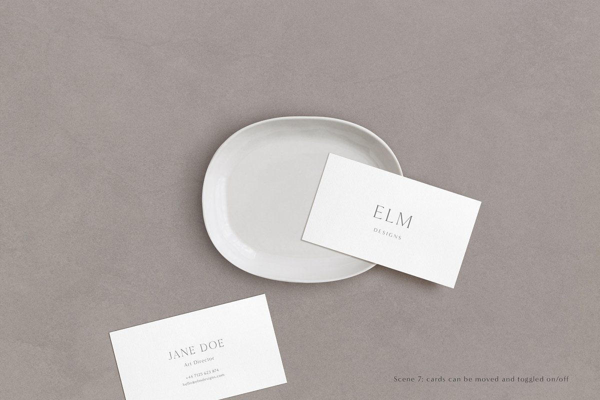 Elm - Business Card Mockup Kit in Templates - product preview 7