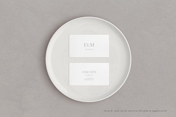 Elm - Business Card Mockup Kit in Branding Mockups - product preview 9