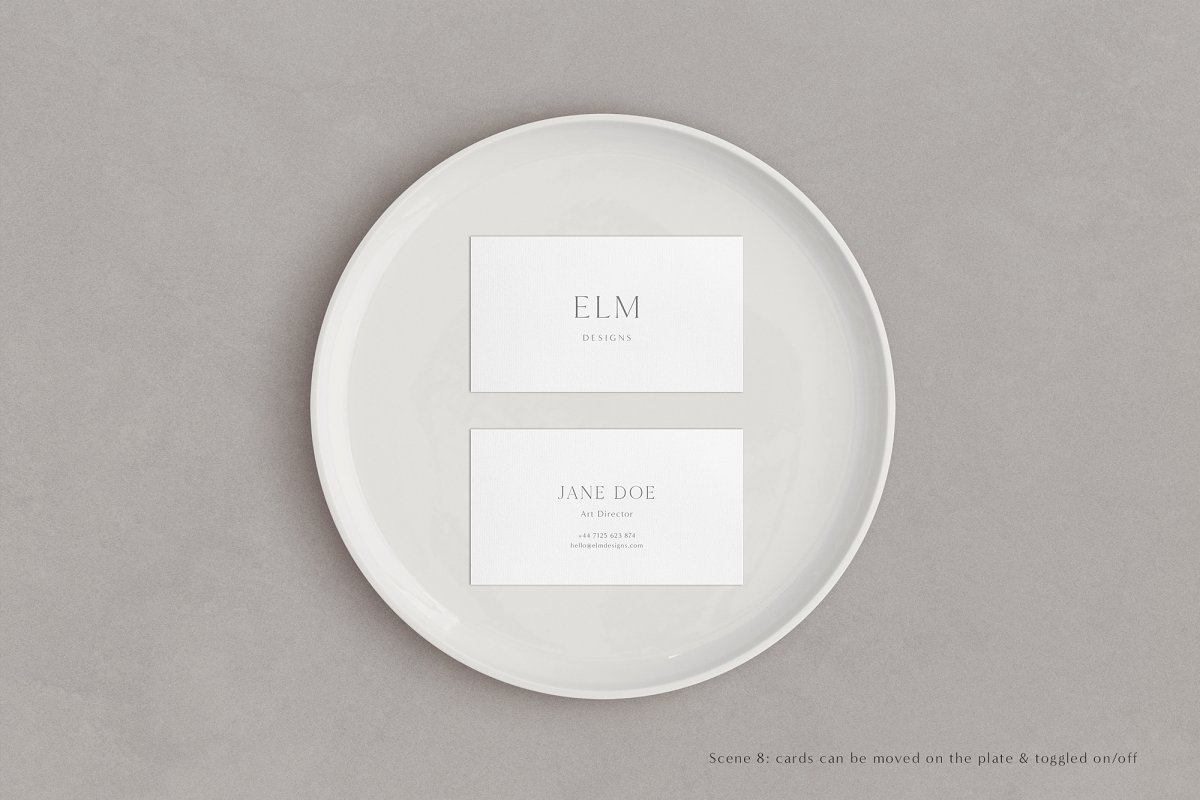 Elm - Business Card Mockup Kit in Templates - product preview 6