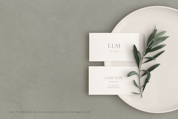 Elm - Business Card Mockup Kit in Branding Mockups - product preview 10