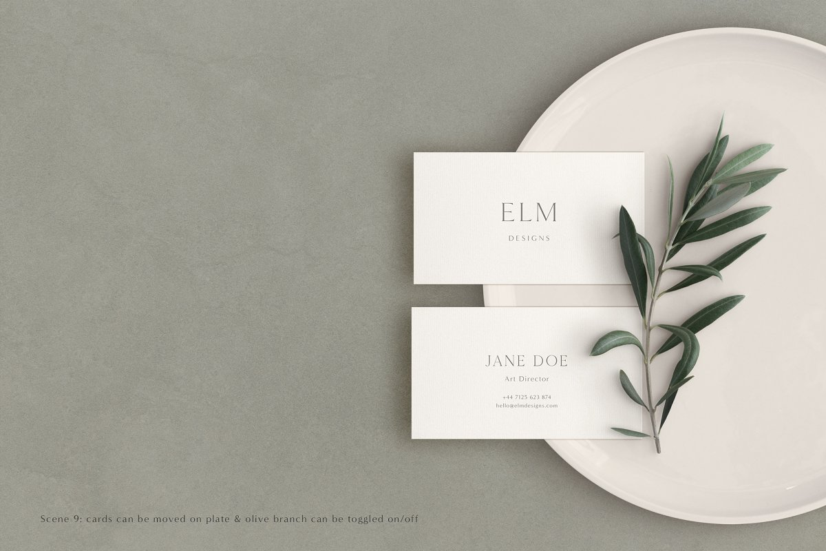 Elm - Business Card Mockup Kit in Templates - product preview 5
