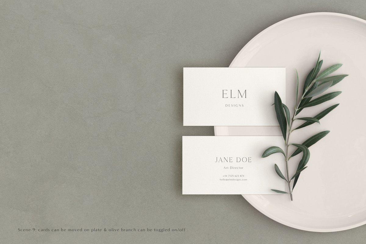 Elm - Business Card Mockup Kit in Branding Mockups - product preview 5