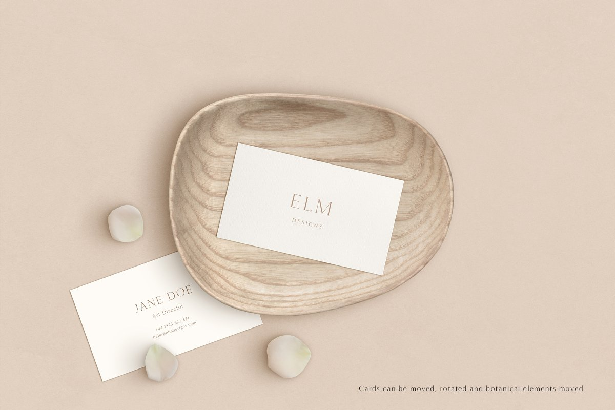 Elm - Business Card Mockup Kit in Templates - product preview 4