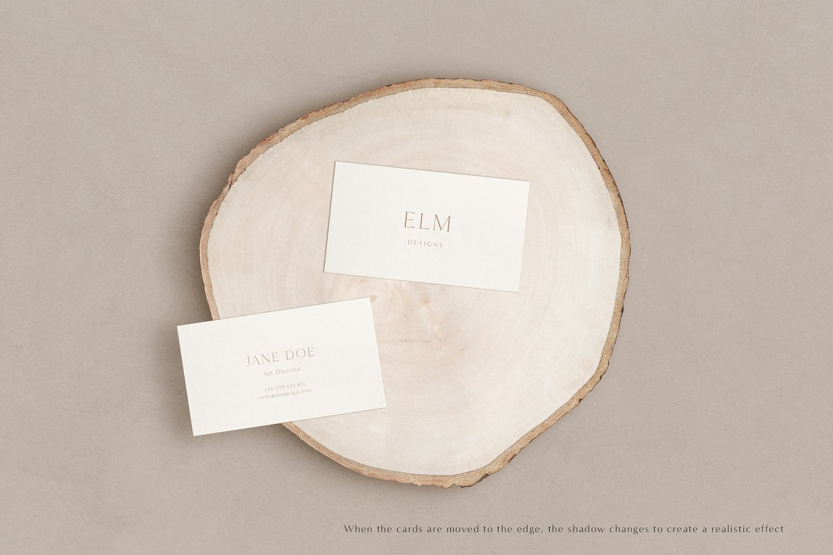 Elm - Business Card Mockup Kit in Templates - product preview 2