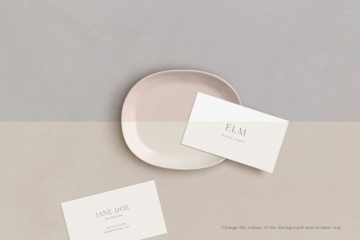 Elm - Business Card Mockup Kit in Templates - product preview 3