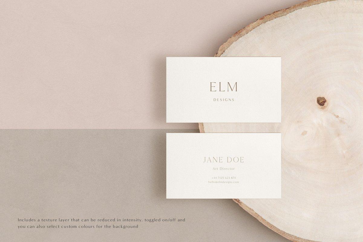 Elm - Business Card Mockup Kit in Branding Mockups - product preview 1