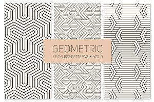 Geometric Seamless Patterns Set 9