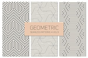 Geometric Seamless Patterns Set 9