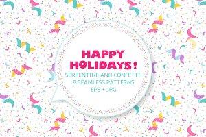 Festive seamless pattern