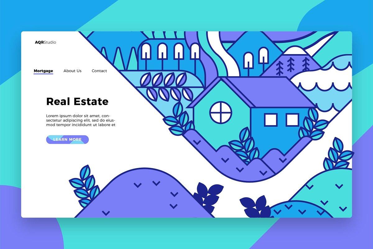 Real Estatee - Banner & Landing Page